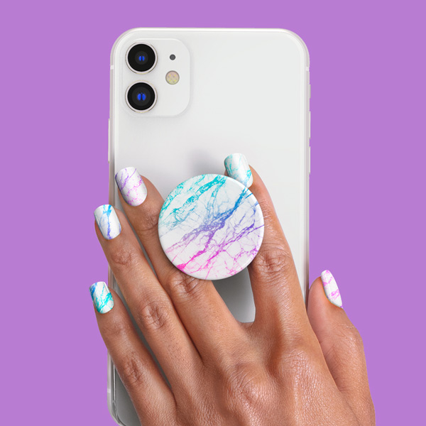 PopSockets Nails Unicorn Marble Spectrum product